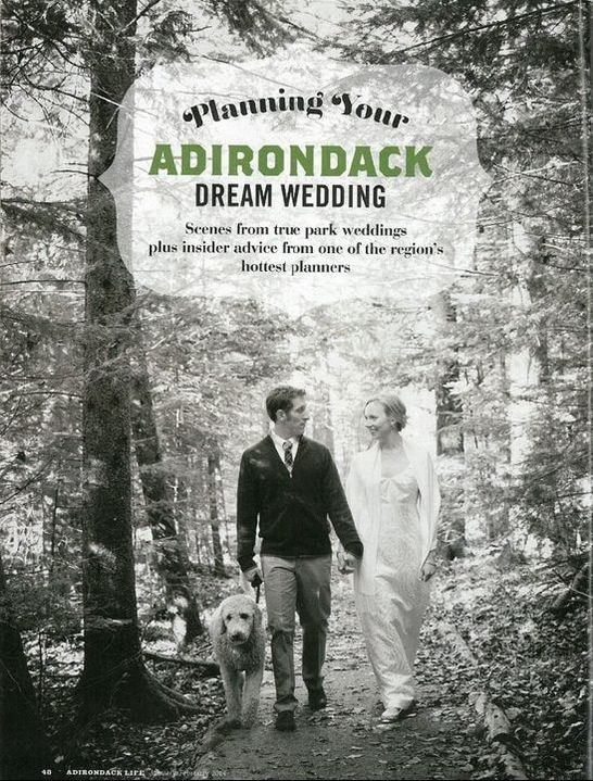 Adirondack Life Magazine Dream Wedding article